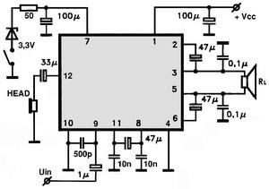 AN7161 Audio IC - Electronic Circuits, TV Schematics, Audio