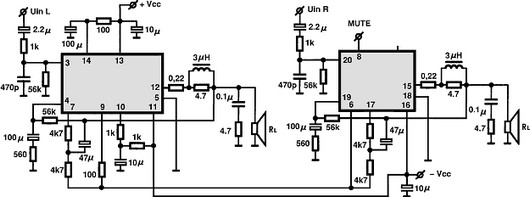 Stk4211ii Audio Ic Electronic Circuits Tv Schematics Audio