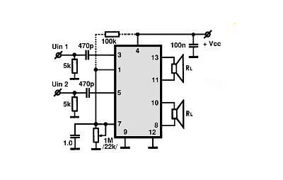 Tda7057aq Audio Ic Electronic Circuits Tv Schematics Audio