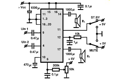 tda7496 audio ic